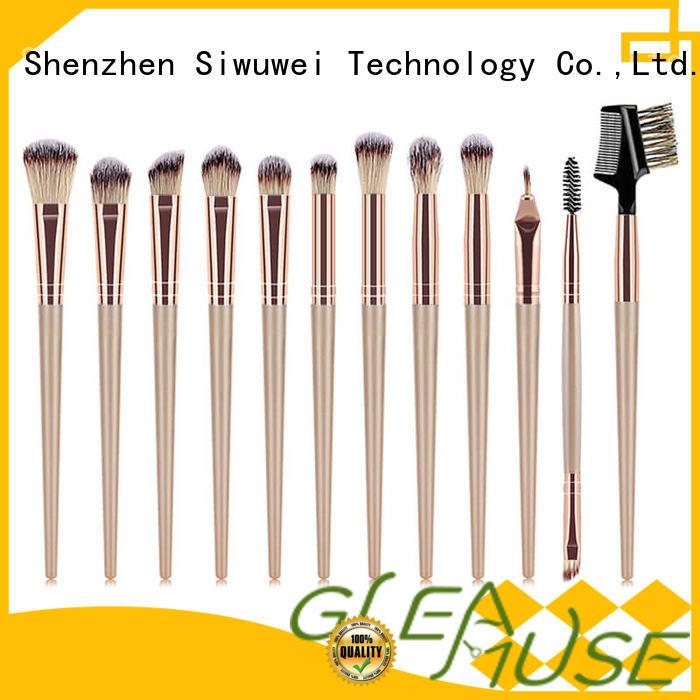 GLEAMUSE Custom makeup brush set new Supply for Beauty shop