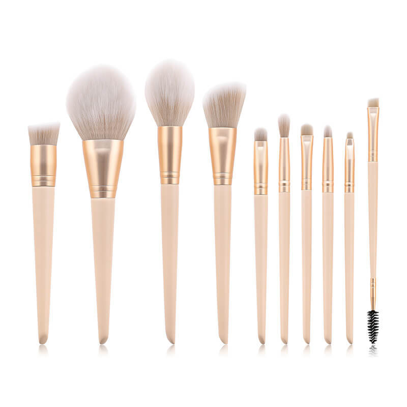 High-End Travel Makeup Brush Set Soft Head MBS-S10PK