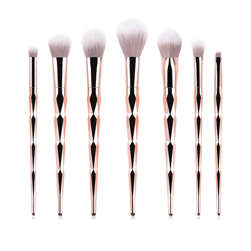 High-End Rose Gold Makeup Brushes Set MBS-S7ZB