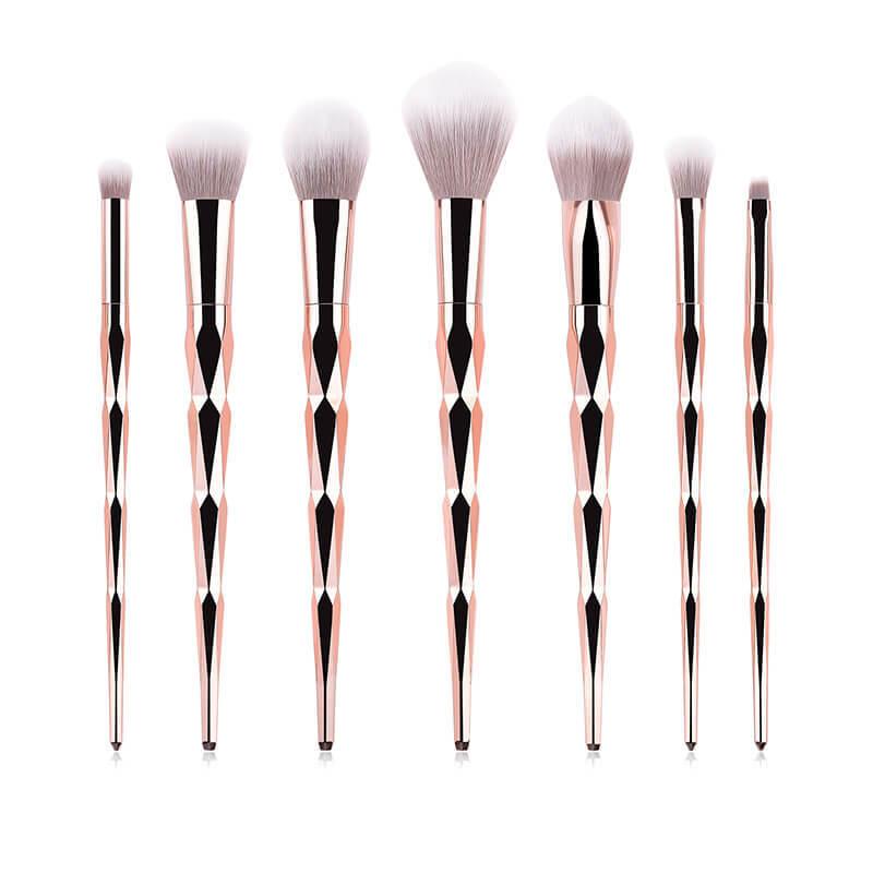 High-End Rose Gold Makeup Brushes Set MBS-S7ZB
