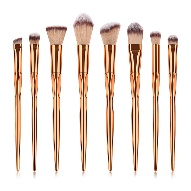 High-End Goat Hair Makeup Brush Set MBS-S8RG