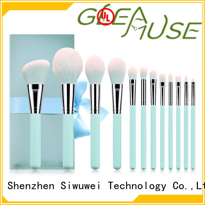 GLEAMUSE High-quality natural makeup brush set Supply for makeup artist