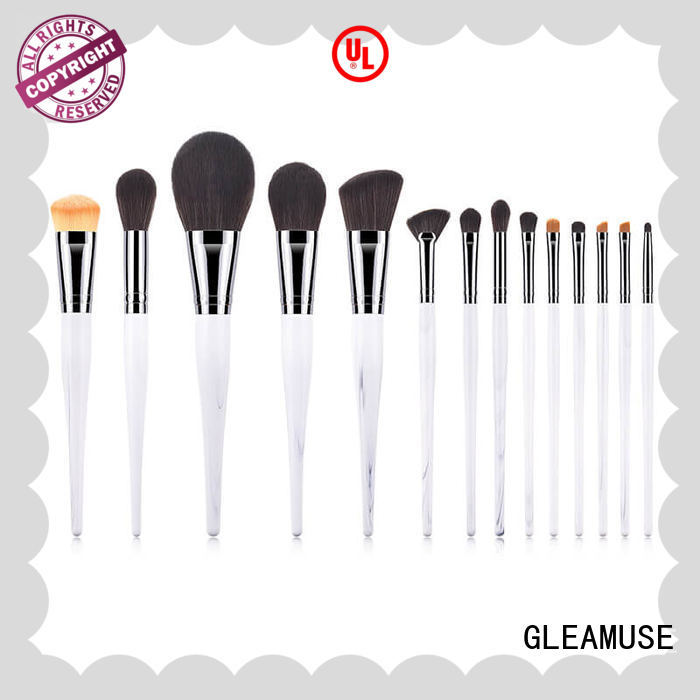 GLEAMUSE nice makeup brush set factory for women