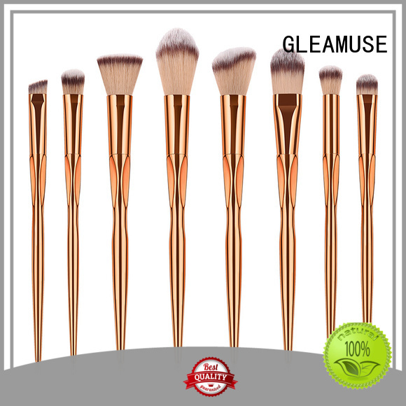 GLEAMUSE Top good and cheap makeup brush sets Supply for makeup artist