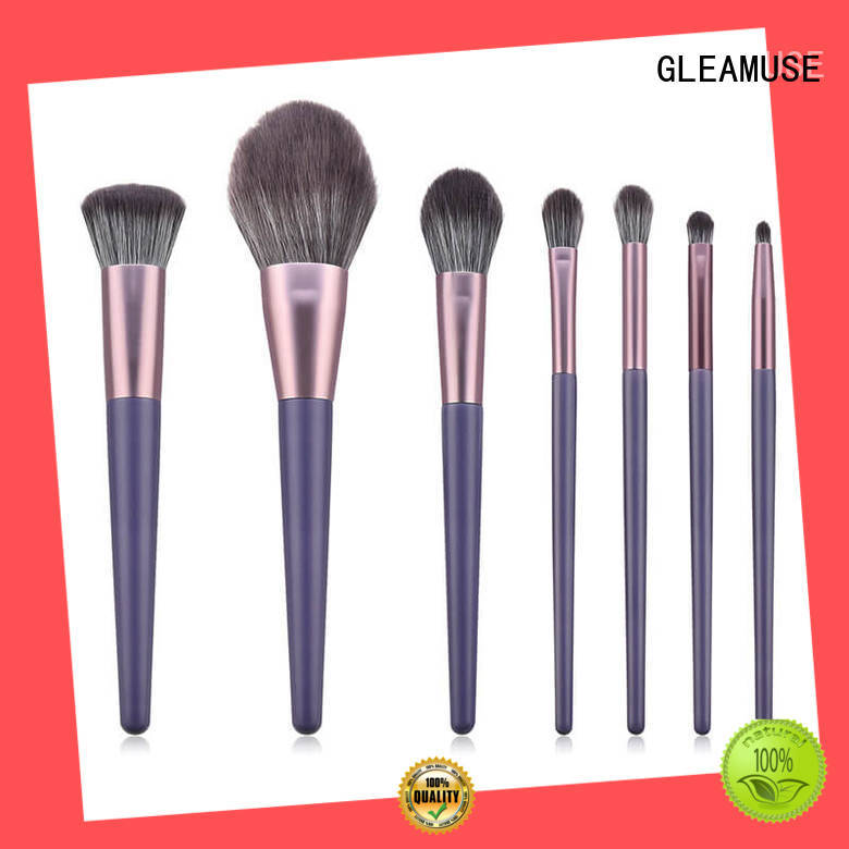GLEAMUSE High-quality complete professional makeup brush set for business for makeup artist