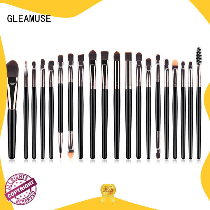 GLEAMUSE Latest best makeup brush set brand factory for women