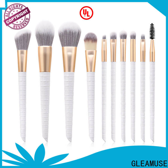 GLEAMUSE cheap makeup brush sets in stores Suppliers used for face painting