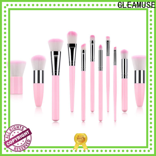 GLEAMUSE best pro makeup brush set company for women