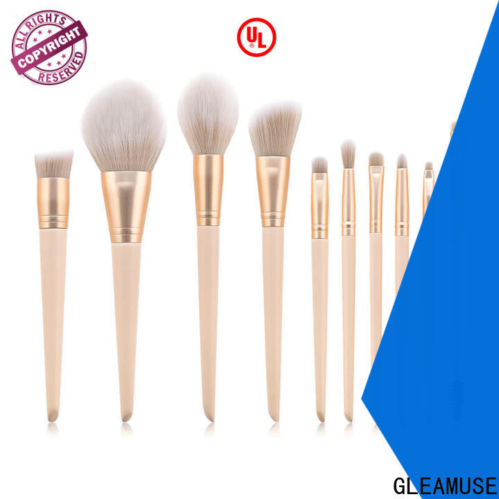 GLEAMUSE High-quality largest makeup brush set Supply for makeup artist