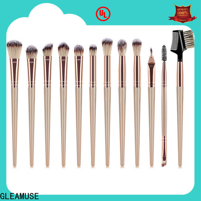 GLEAMUSE makeup brush set low price factory used for face painting