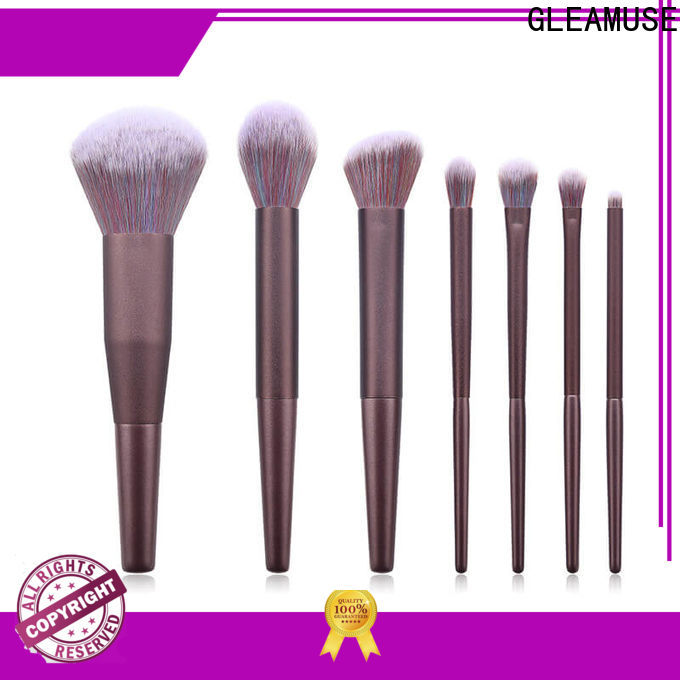 GLEAMUSE New cheap professional makeup brushes set company for Beauty shop