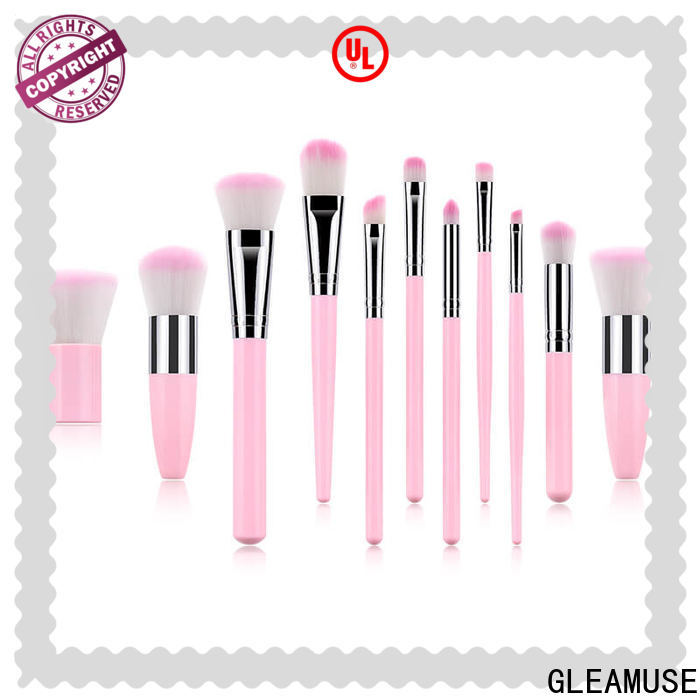 GLEAMUSE Top bamboo makeup brushes company used for face painting