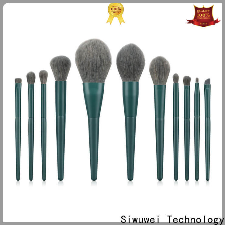 GLEAMUSE New natural makeup brush set manufacturers for women