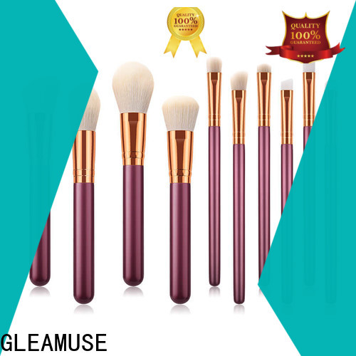GLEAMUSE Latest bamboo makeup brushes Supply for makeup artist