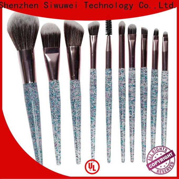 GLEAMUSE Top flat makeup brush set factory for Beauty shop