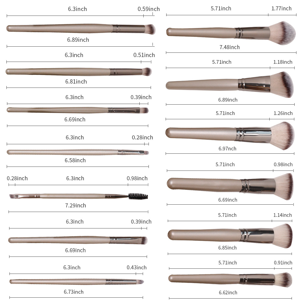 GLEAMUSE Best cheap face brush sets Supply used for face painting-2