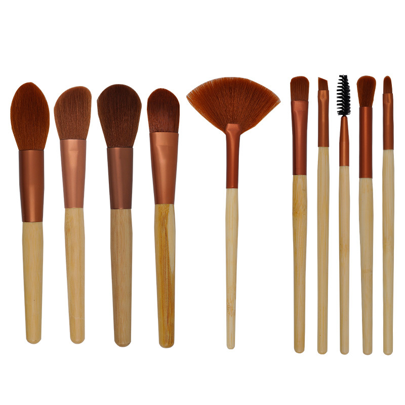 Professional Basic 10 pieces synthetic makeup brush set in good quality