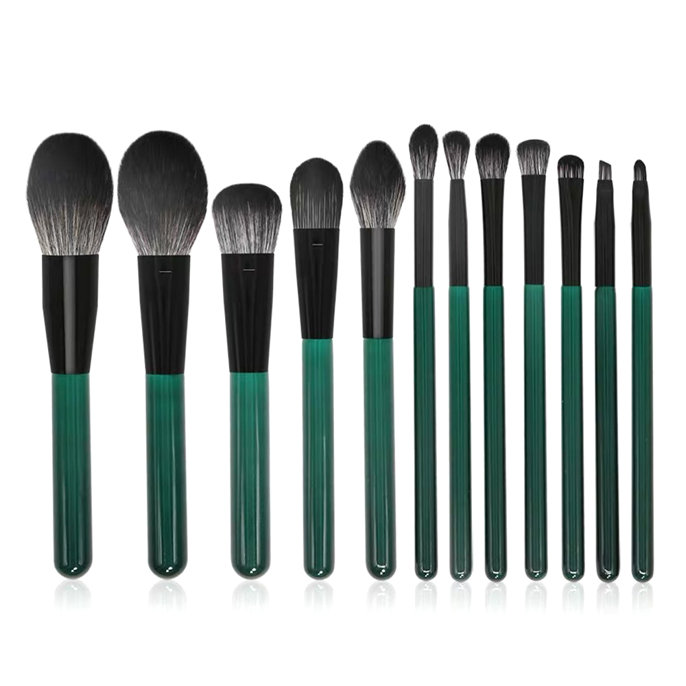 Exquisite 12 pieces makeup brushes set for concealer contour eyeshadow