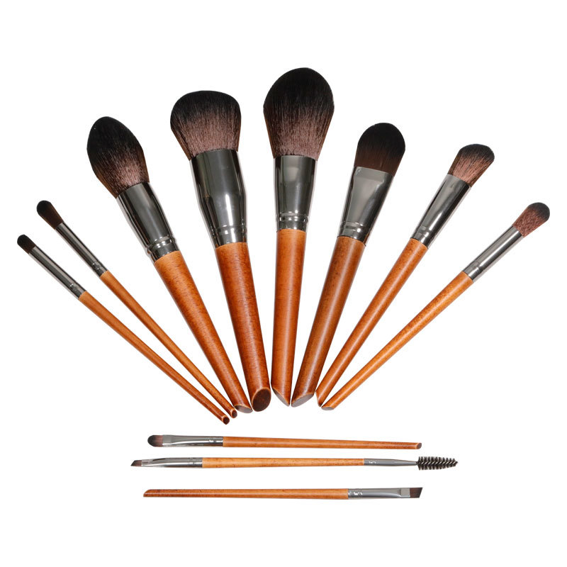 Premium 11 pieces makeup brush set with synthetic hair for all kinds of cosmetic product