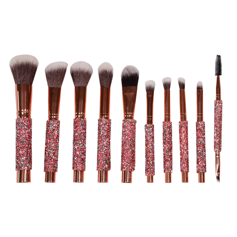 Red crystal luxury makeup brushes suitable for both amateur and makeup artist