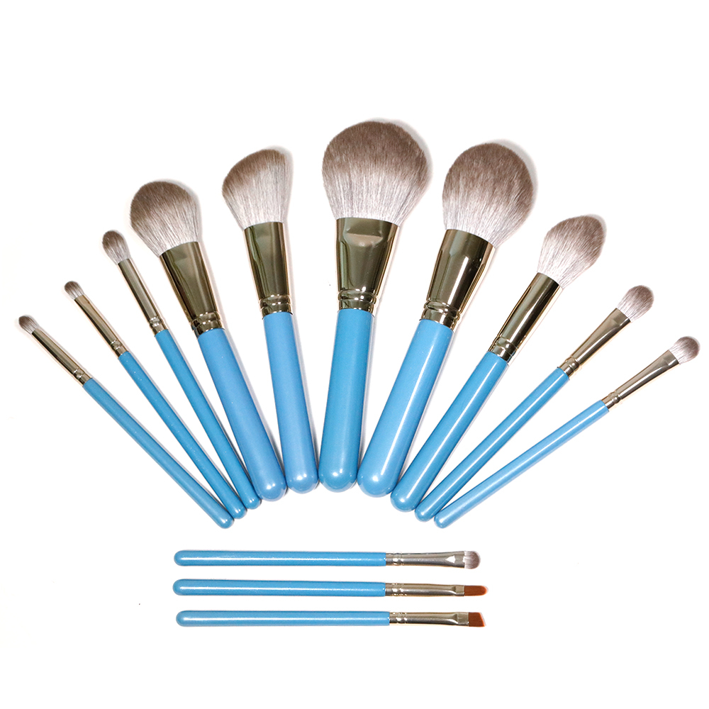 Durable and solid 12 makeup brushes in bulk wholesale