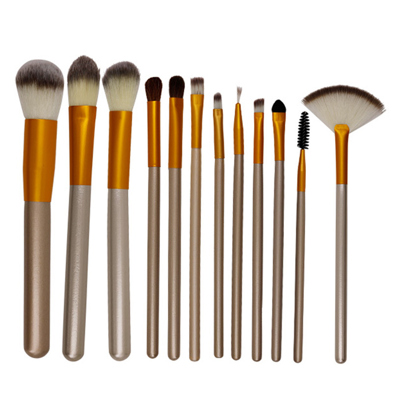 Finest brown makeup brush kit wholesale from factory