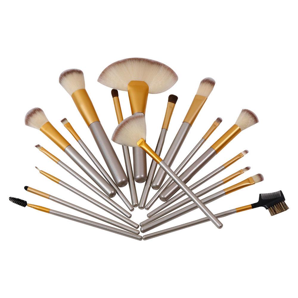 High quality 17 pieces makeup brush set hot sale in bulk