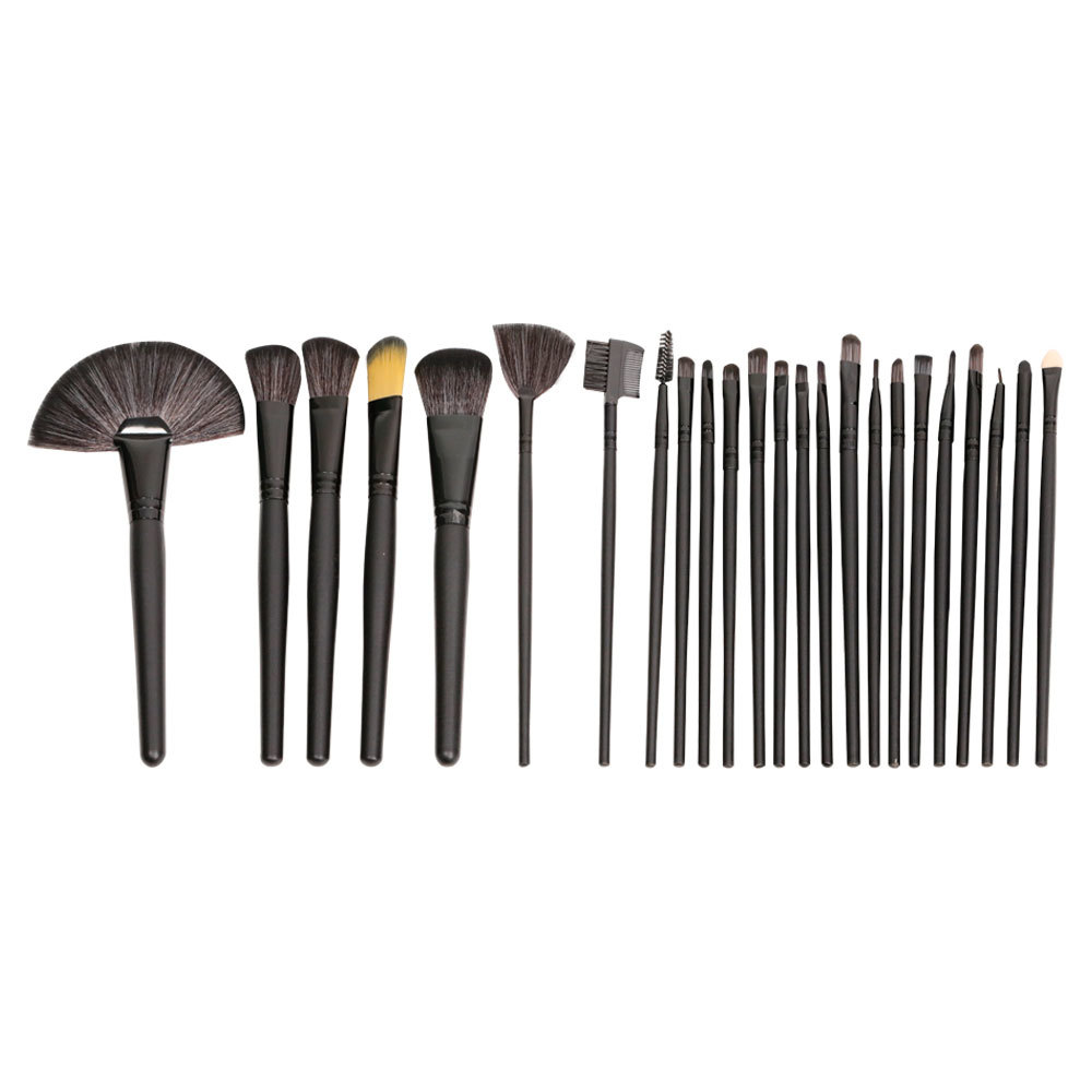 Pretty black 20 pieces make up brushes with custom logo