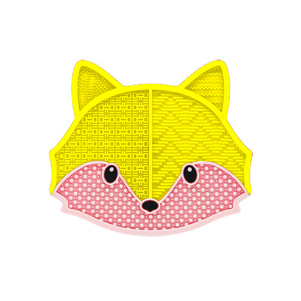 yellow fox PU makeup brush pad