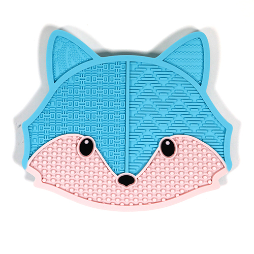 blue fox plastic makeup brush cleaning pad