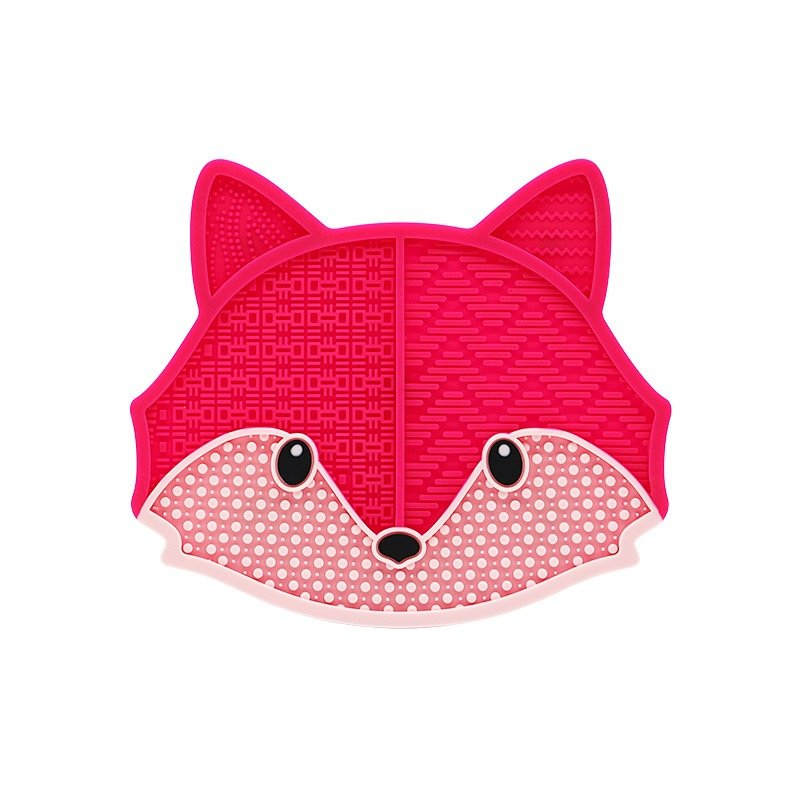 rose red fox makeup brush cleaning pad