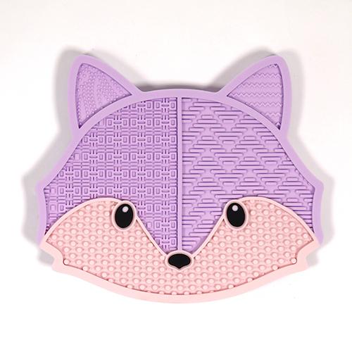 purple fox makeup brush pad