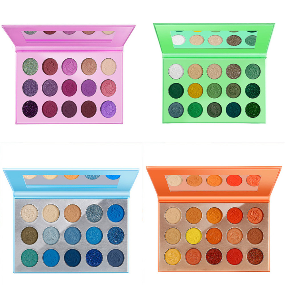 2021 New Makeup glitter eyeshadow palette custom 15 colors private label