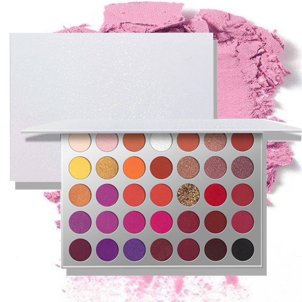 2021 New Arrival SW-35006 35 colors Eyeshadow Palette Shimmer Vegan Makeup Glitter Powder Pigment