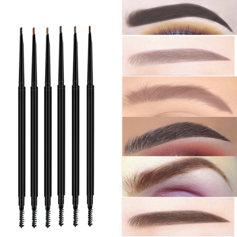 2021 Siwuwei high quality wholesale 6 colors waterproof eyebrow pencil China supplier