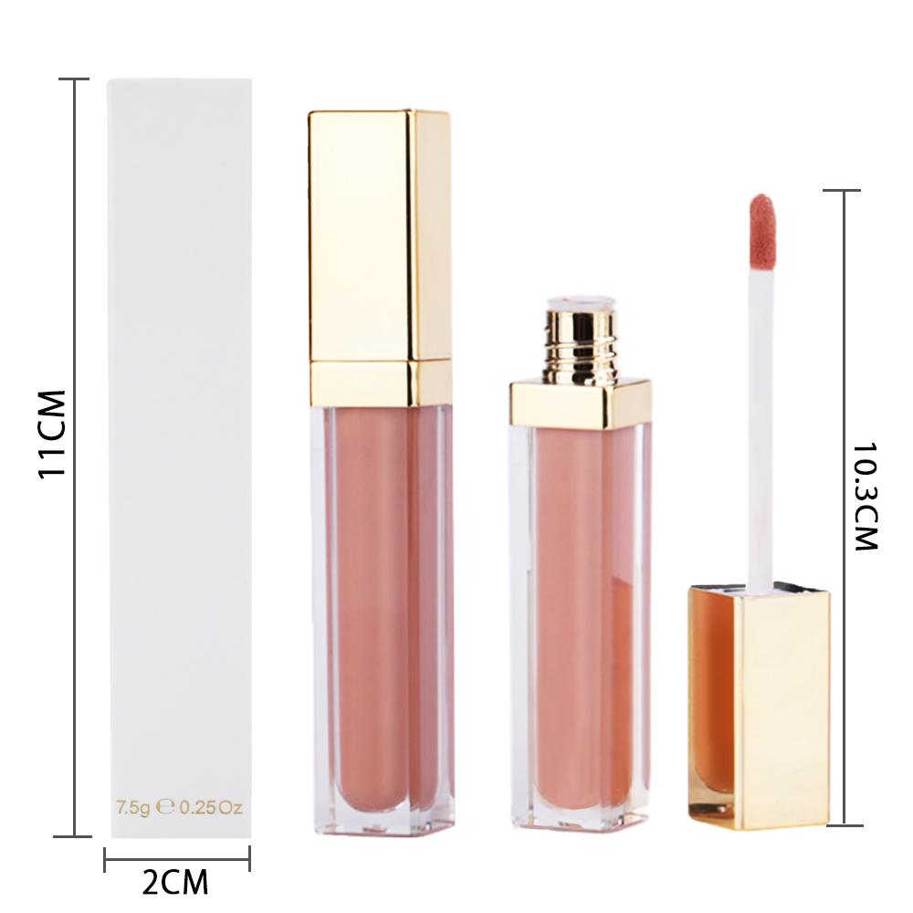 Private Label Lip Gloss Waterproof High Pigment Custom Beautiful Fancy Glitter Lip gloss supplier